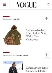 VOGUE Article Customizable Fur Lined Parkas
