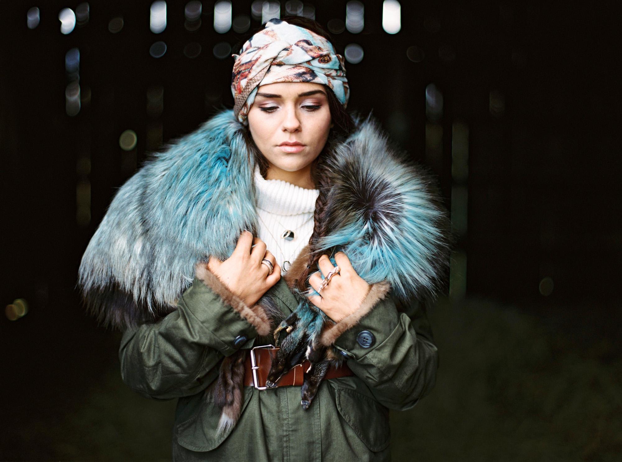 enVie Green Fur Couture