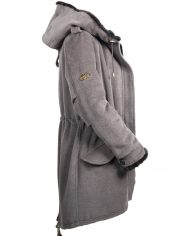 C78 Parka mit Black Glama Nerz Ladies SIDE