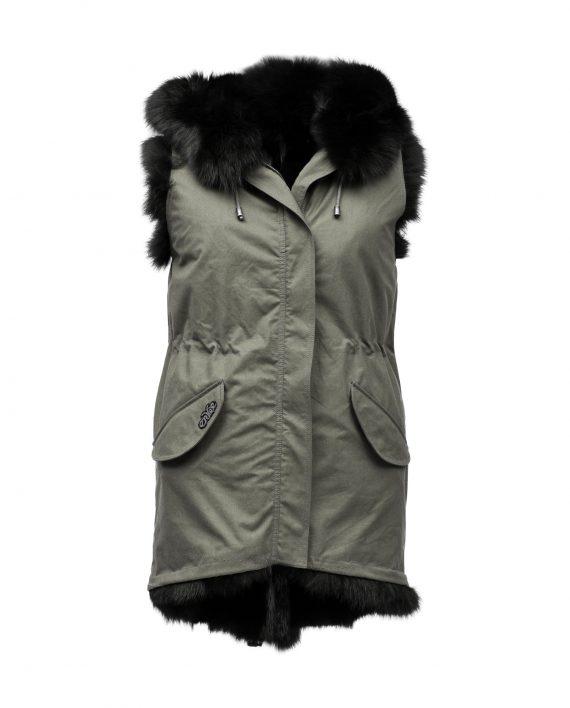 N78 Gilet Mink Hood Vest