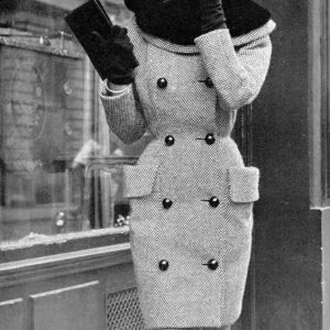 tweed coat with otter fur collar_1950