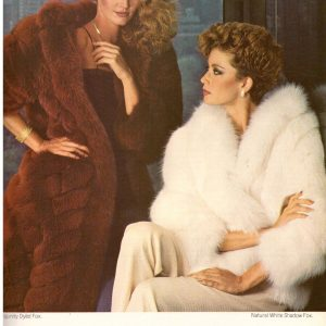 1980 Christian Dior Furs Fox Michael Valente Print Ad Vintage Advertisement 80s