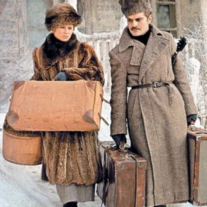 Dr. Zhivago wearing Fur Coats